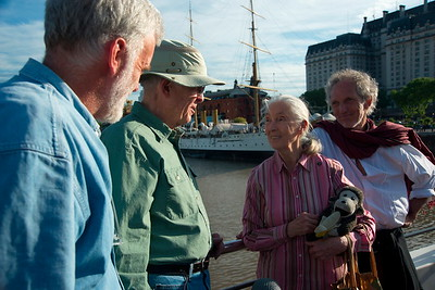 Jane Goodall and Roger Payne in Buenos Aires - Argentina