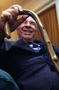 Borges y su bastón