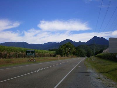 On the road looking towards Daintree