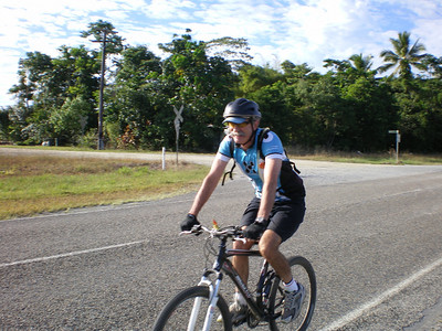 Ben looking cool on the way to Daintree