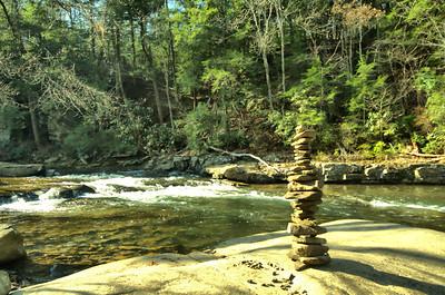 Cairn along Cane creek