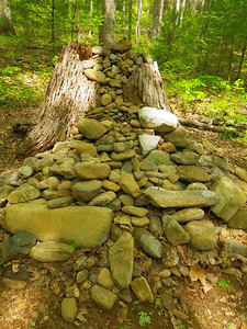 Cairn that has taken on years and years of additions to it.