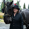 What the horses and Michelle are about to do is solemn, and that is not lost on these veterans of a voluntary service they provide to military families .