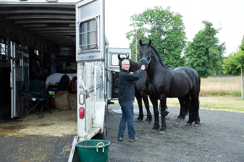 Cameras in tow, Matt and I arrived from Portland, in a rainy deluge, in time to get some horse cuddling with Johnny Cash and his sister, June Carter.  (Yes, they are named for some other stars.)