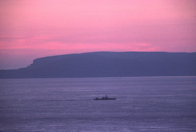 June 21st 1977 (about 2300), looking from Scotland's most Northerly point across the Pentland Firth to Hoy, Orkney Isles.