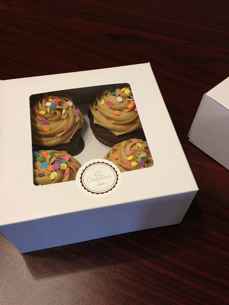 Chocolate cupcakes with PB buttercream...