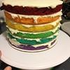 St. Patty's Day rainbow layer cake
