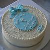 Elegant baptism cake!