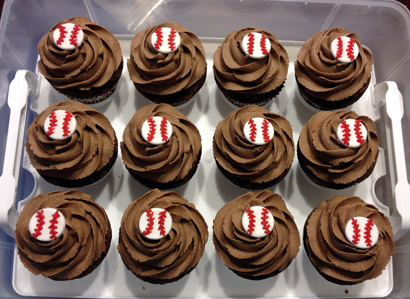 Chocolate reeses cupcakes with peanut butter buttercream filling