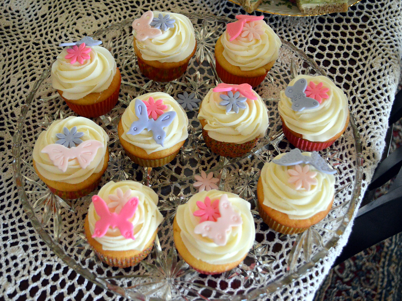 Fondant butterfly cupcakes