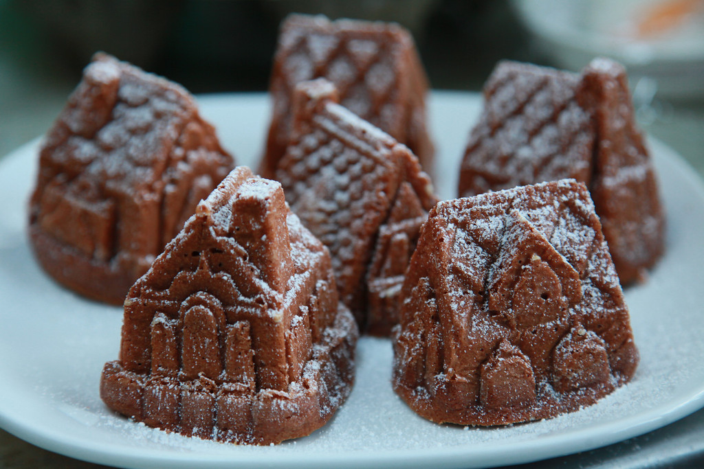Spice cake village for the holidays - all from scratch.