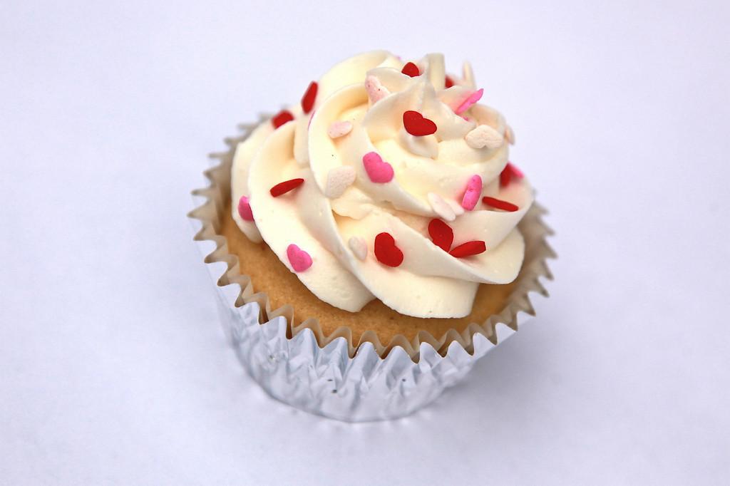 A valentine's day cupcake