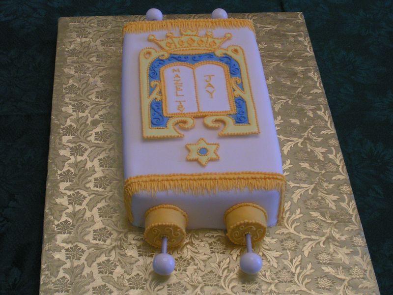 BarMitzva cake.  Covered in fondant.  Feeds approx. 30 people.  $120.00