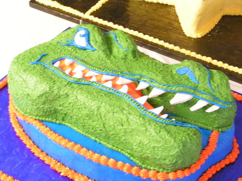 Custom Gator Cake.  Feeds approx. 75 people.  $200.00