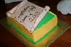 Buttercream icing. Gumpaste document.  Feeds 15-20.  $60.00