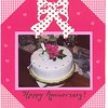 Ten inch round cake.  Covered in fondant.  Gumpaste flowers.  Feeds 30.  $120.00 for the cake.  $25.00 for the flower arrangement.