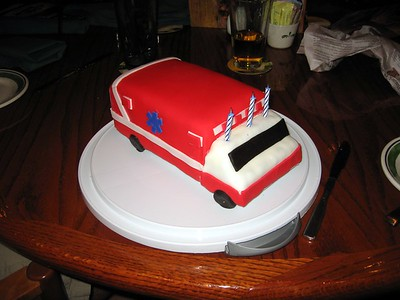 David's Ambulance Cake, by Olivia (4/6/10) (Click here for more photos)