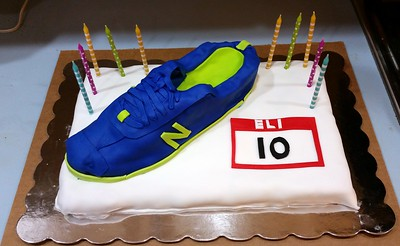 Eli's Running Shoe Cake, by Craig (12/12/14). (Click here for more photos)