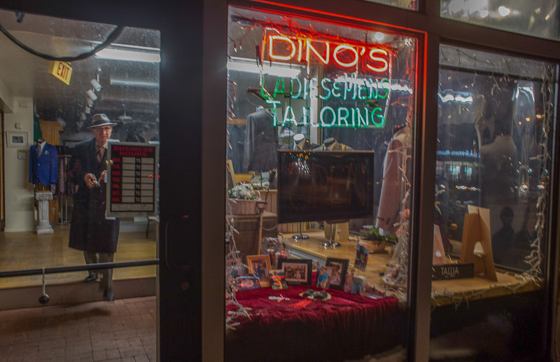 November 12, 2016. When Dino is finished with his shift at 6 p.m., he locks up his store and goes home. <br /> Dino Sicicchia (cq), 72, an immigrant from Italy, owns a tailor shop on Monroe Ave. in Rochester, N.Y. that he has worked in for 18 years. Dino makes all of the income between he and his wife. Dino works in his shop six days a week from 8 a.m. to 6 p.m. Dino is considered a hero to his wife for the long hours and many days he works to provide the necessary income for his family.