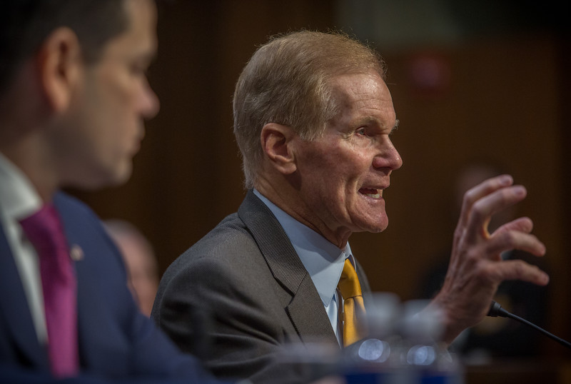 Washington, D.C. : 3/14/18  <br /> Senator Bill Nelson of Florida talks about the issue of gun rights during the debate on the one month anniversary of Parkland, Florida shooting.