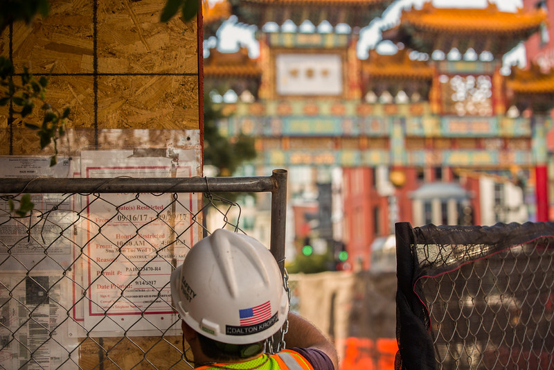 9/29/17 - Deconstruction of Tai Shan Chinese restaurant. Chinatown, Washington D.C.
