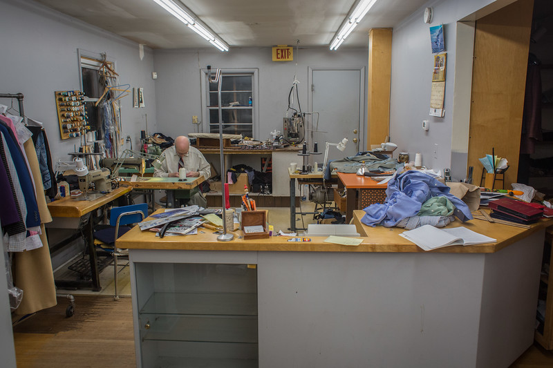 November 12, 2016. Not too many customers come into Dino's shop throughout the day. A majority of the day, Dino can get his work done without any disturbance. <br /> Dino Sicicchia (cq), 72, an immigrant from Italy, owns a tailor shop on Monroe Ave. in Rochester, N.Y. that he has worked in for 18 years. Dino makes all of the income between he and his wife. Dino works in his shop six days a week from 8 a.m. to 6 p.m. Dino is considered a hero to his wife for the long hours and many days he works to provide the necessary income for his family.
