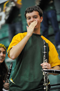 """Pep Band """"A"""" during a Women's Basketball game against UC Davis. Jan. 10, 2013. Photo by Ian Billings"""
