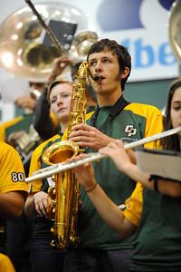 Cal Poly Men's Basketball versus Fresno State. The Bulldogs would win 76-67. Nov. 19, 2012. Ian Billings/Mustang Daily
