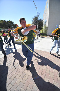 The Cal Poly Pep Band during Open House. Apr. 19, 2013. Photo by Ian Billings