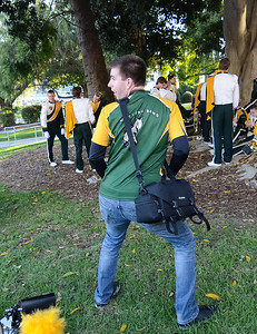 The Pride of the Pacific, The Cal Poly Mustang Marching Bands performs on Oct. 13, 2012. Photo by Ian Billings
