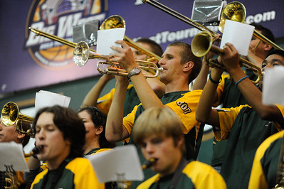 The Mustang Pep Band C during a basketball game against Northern Colorado. Nov. 15, 2012. Photo by Ian Billings