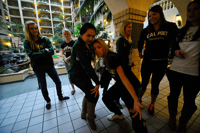Cal Poly Women's Basketball travels to Baton Rouge, LA the NCAA Tournament. Mar. 23, 2013. Photo by Ian Billings