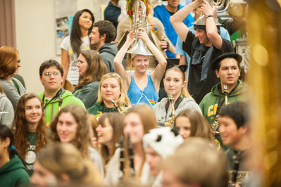 Pep Band Rehearsal.  Feb. 12, 2013. Photo by Ian Billings