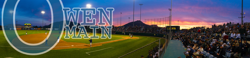 Larger version of this photo of Baggett Stadium on my Facebook page. Came out better than I hoped. #Stangs