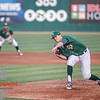 Cal Poly Baseball hosted Long Beach State on Friday, April 20, 2018 at Baggett Stadium at Cal Poly. San Luis Obispo, CA.<br /> <br /> Photo by Owen Main / Fansmanship.com