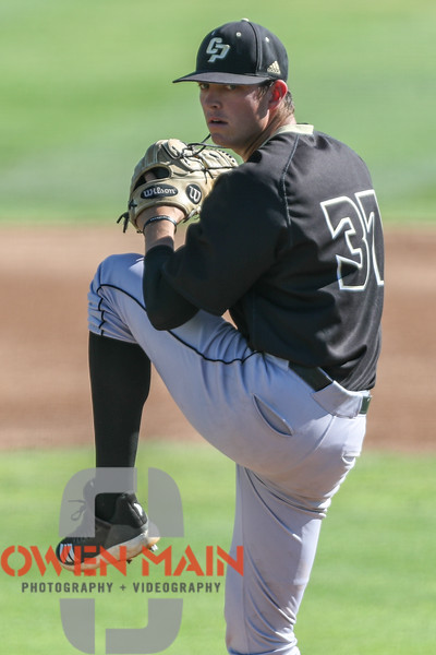 Cal Poly baseball hosted Pepperdine for a Fall game at Baggett Stadium. Photo by Owen Main. 11/3/18