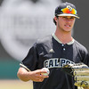 5/20/1810:57:58 AM --- Cal Poly baseball beat rival UCSB in a Big West Conference game at Baggett Stadium in San Luis Obispo, CA on May 19, 2018. <br /> <br /> Photo by Owen Main