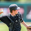 5/20/1811:00:25 AM --- Cal Poly baseball beat rival UCSB in a Big West Conference game at Baggett Stadium in San Luis Obispo, CA on May 19, 2018. <br /> <br /> Photo by Owen Main