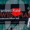 Cole Cabrera makes a leaping catch today in left field. I guess someone is getting some strong marketing over on-campus. #GuaranteedRate Cal Poly Baseball hosted Cal. Photo by Owen Main