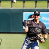 Cal Poly baseball played UConn at the MLB4 Tournament at Salt River Flats in Scottsdale, AZ.  Photo by Owen Main 2/14/20