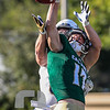 Bradley Mickey (17) breaks up a pass against a UC Davis receiver. Cal Poly hosted UC Davis for the Battle for the Golden Horseshoe in San Luis Obispo, CA. Photo by Owen Main. 10/20/18