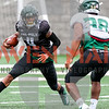 Cal Poly football held a spring football practice at Doerr Family Field in San Luis Obispo, CA. Photo by Owen Main 4/20/19