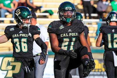 Cal Poly Football hosted North Dakota at Alex G. Spanos Stadium in San Luis Obispo, CA. Photo by Owen Main 10/19/19