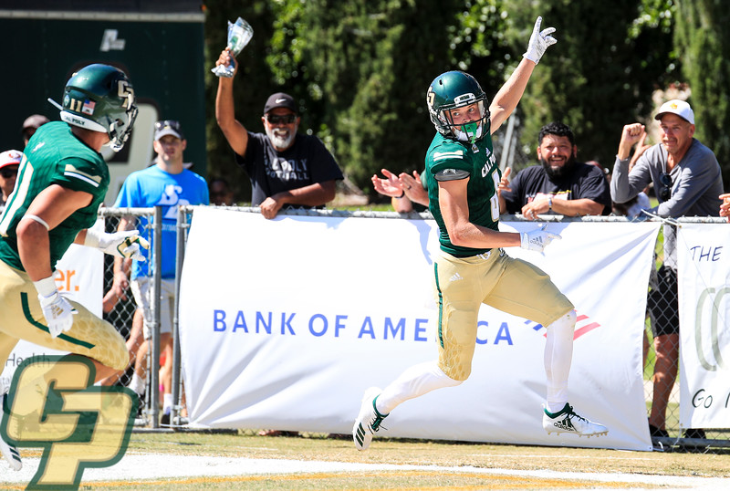 Cal Poly hosted San Diego in the 2019 season opener at Alex G. Spanos Stadium. Photo by Owen Main 8/31/19