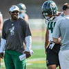 Second day of 2018 Cal Poly Football camp 8/4/188:20:39 AM <br /> <br /> Photo by Owen Main