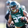 Second day of 2018 Cal Poly Football camp 8/4/188:26:05 AM <br /> <br /> Photo by Owen Main