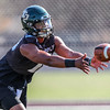 Second day of 2018 Cal Poly Football camp 8/4/188:25:46 AM <br /> <br /> Photo by Owen Main