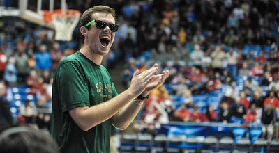Cal Poly spirit groups during the 2014 NCAA Tournament trip. Mar. 19, 2014. Photo by Ian Billings