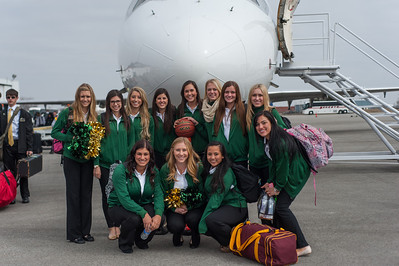 Cal Poly spirit groups during the 2014 NCAA Tournament trip. Mar. 17, 2014. Photo by Ian Billings