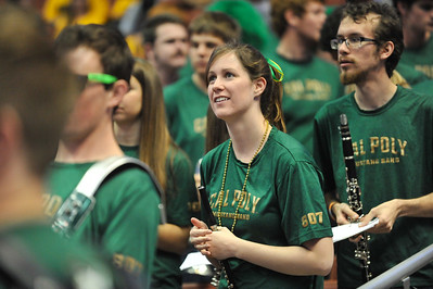 Cal Poly spirit groups during the Men's Basketball  Quarterfinal  vs UC Santa Barbra at the Big West Tournament in Anaheim, California. Mar. 13, 2014. Photo by Ian Billings